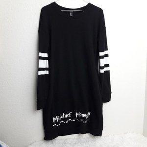Forever 21 M Sweatshirt Dress Mischief Managed